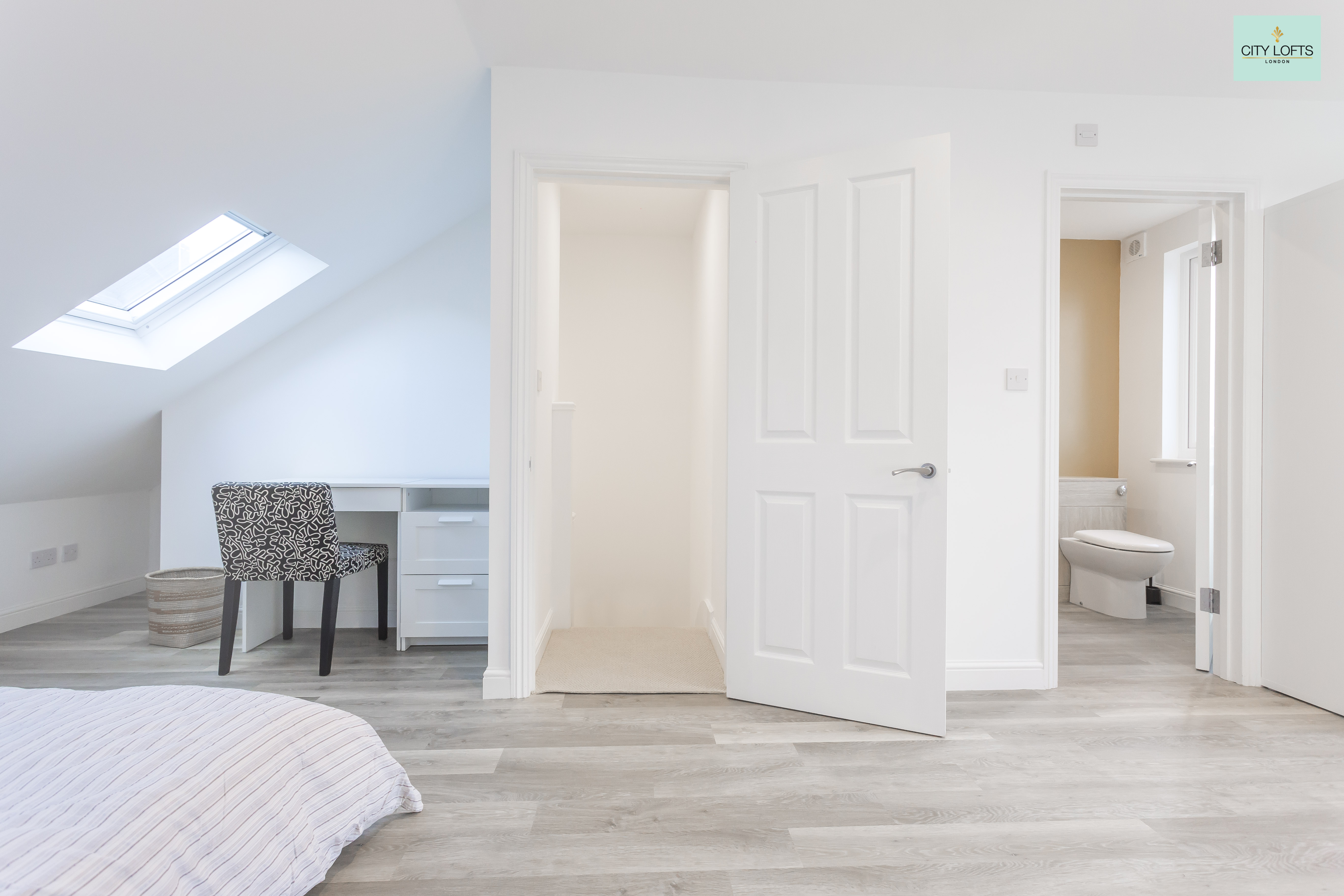 Holloway Loft Conversion Bedroom doorway downstairs