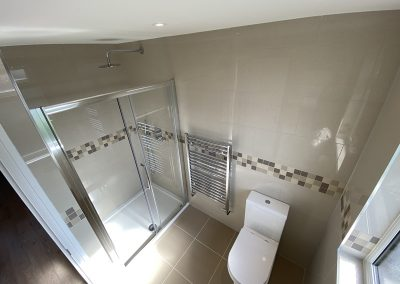 Loft Conversion completed in Neasden- bathroom design