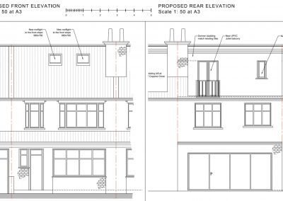 Loft Conversion in Raynes Park proposed elevation
