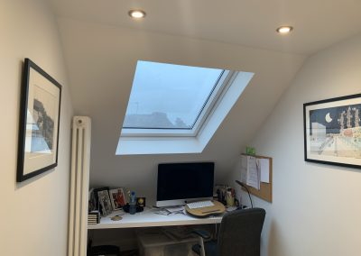 Loft conversion in Harlesden window