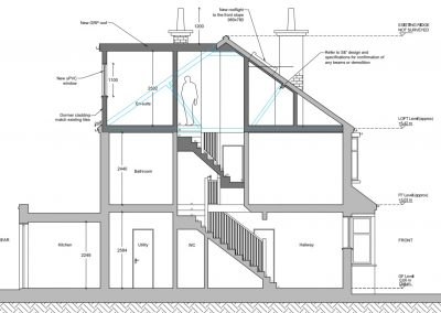 Proposed Plan 2 loft conversion in Raynes Park