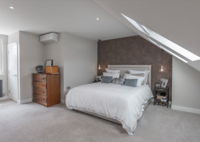 Loft conversion bedroom in West Ealing
