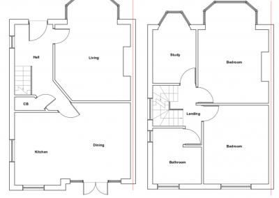 loft conversion in Edgware, architectural plans