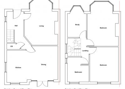 loft conversion in Edgware, drawings